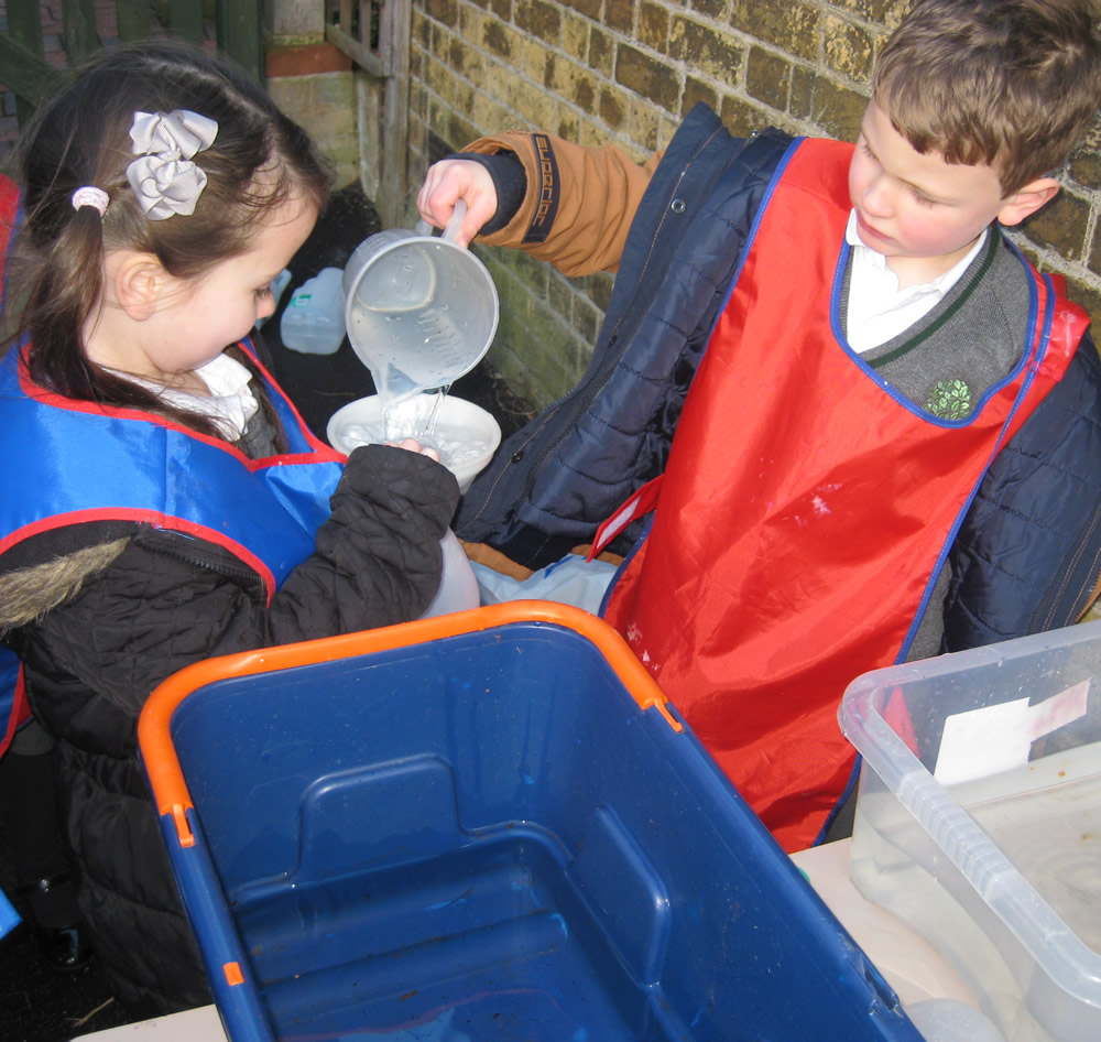 Working together.