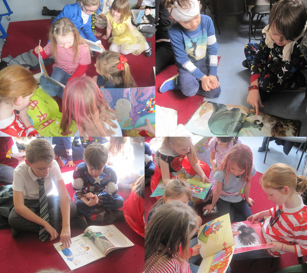 We shared books with Year 4 on Book Day.