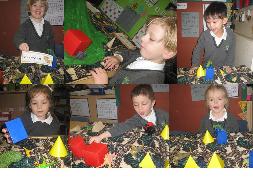 Using positional language.