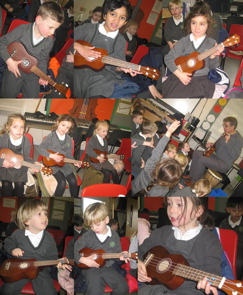 Music lessons with Mr Moore are fun.