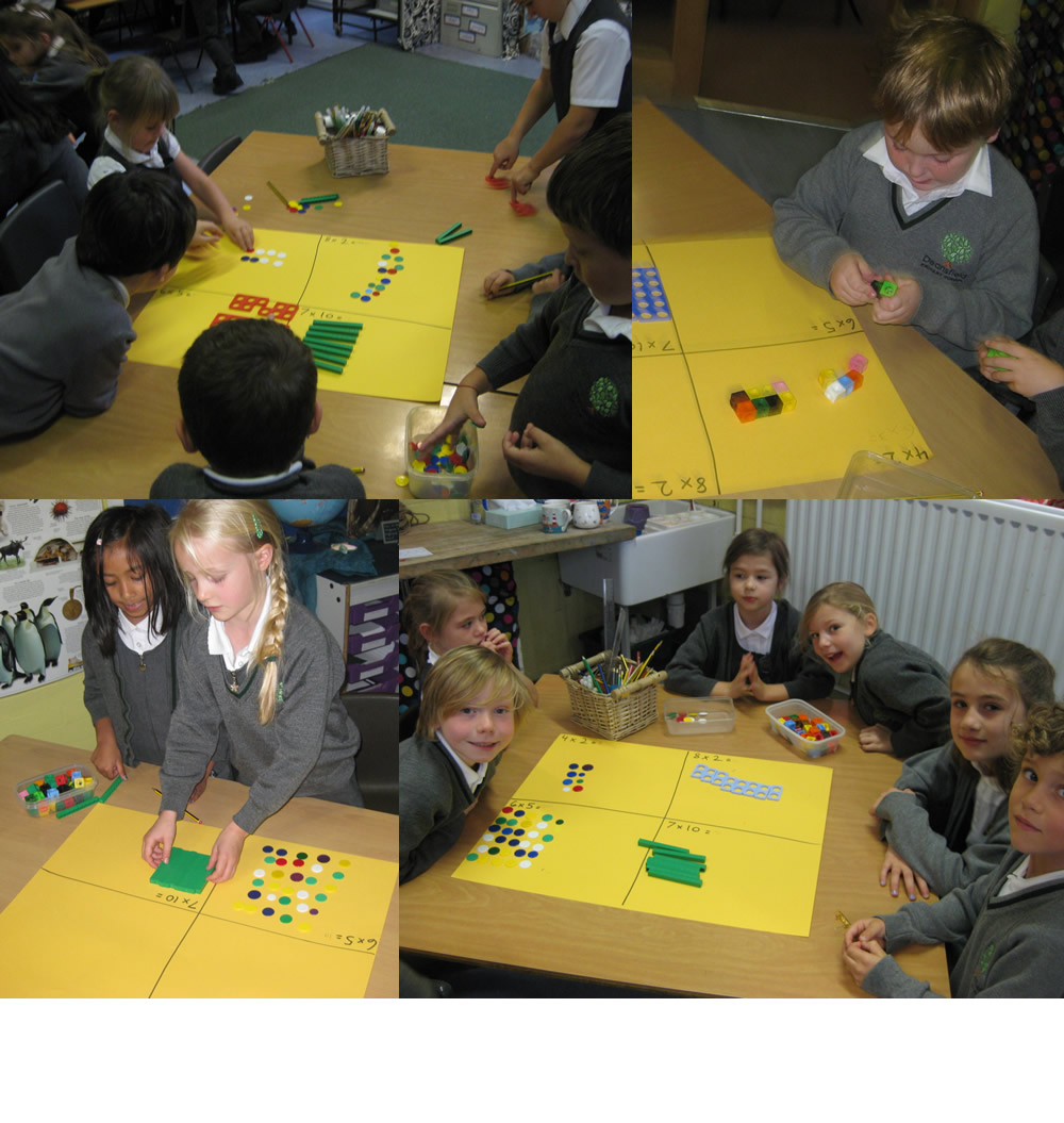 Using maths equipment to solve problems.