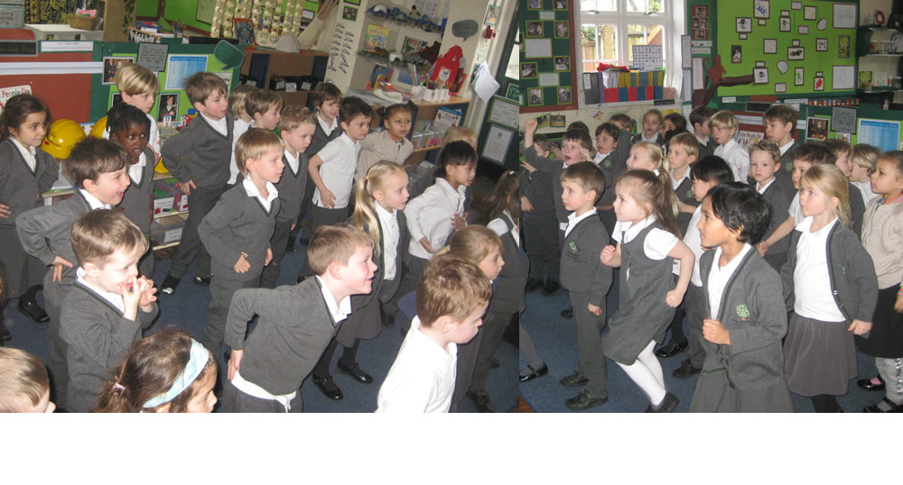 Keeping fit with 5-a-day exercises.