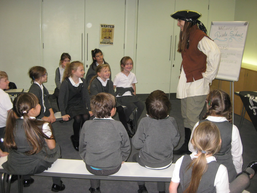 We went to a Pirate Workshop at The National Maritime  Museum. Click on the news link to see more.
