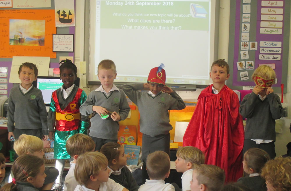 We have started a Superheroes topic linked to our literacy text Max by Bob Graham.
