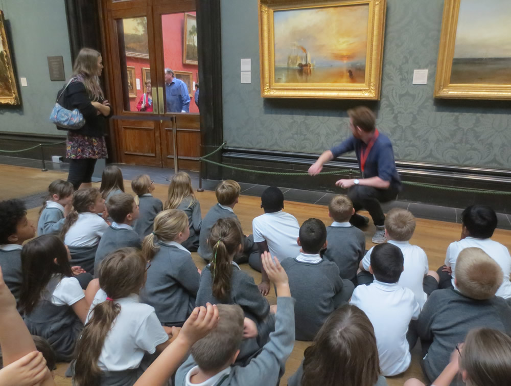 At The National Gallery we saw The Fighting Temeraire by Turner. The sun was glowing on the water.
