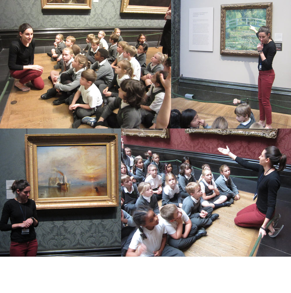 We went to The National Gallery to see The Fighting Temeraire.