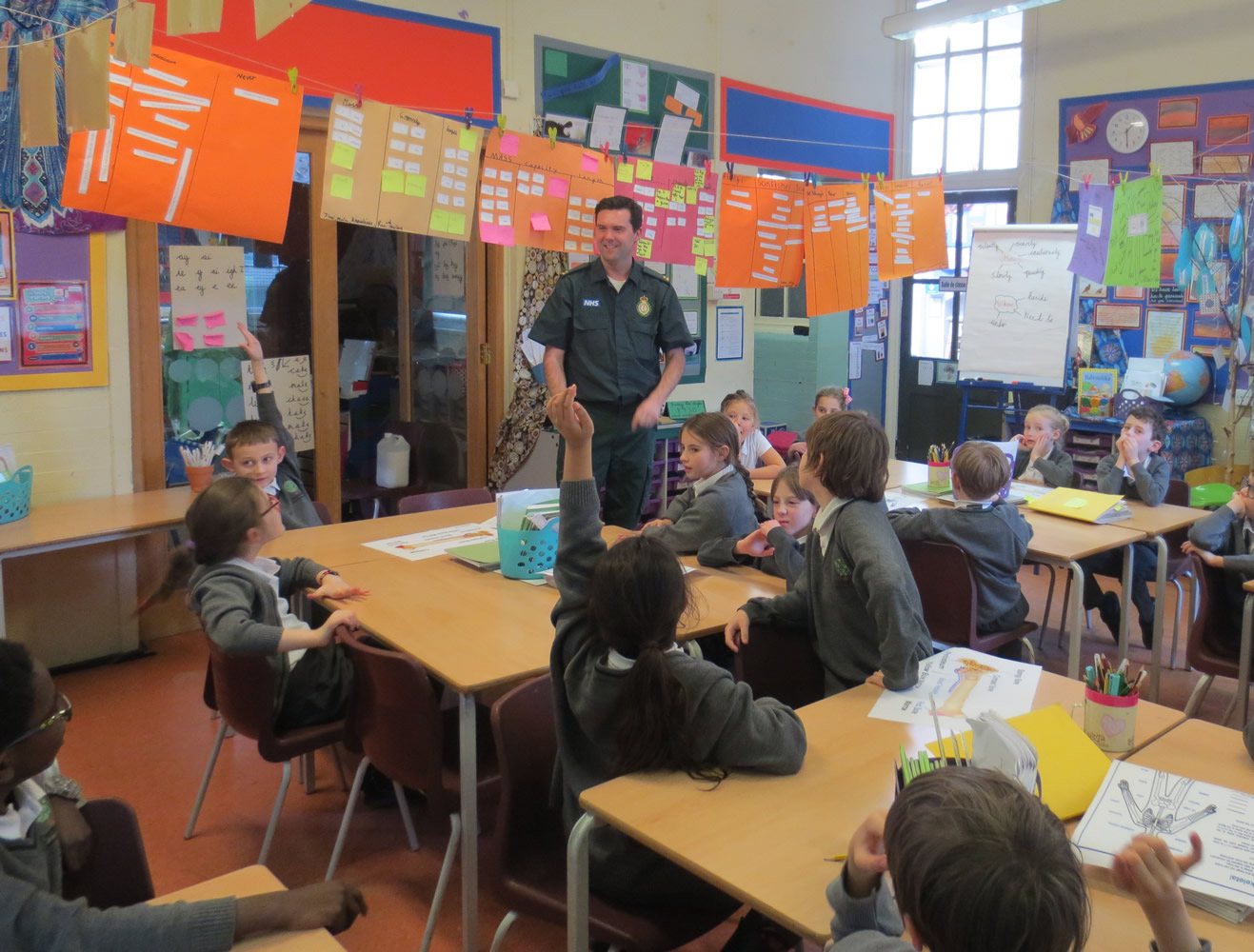 We were excited to have a visit from a paramedic.
