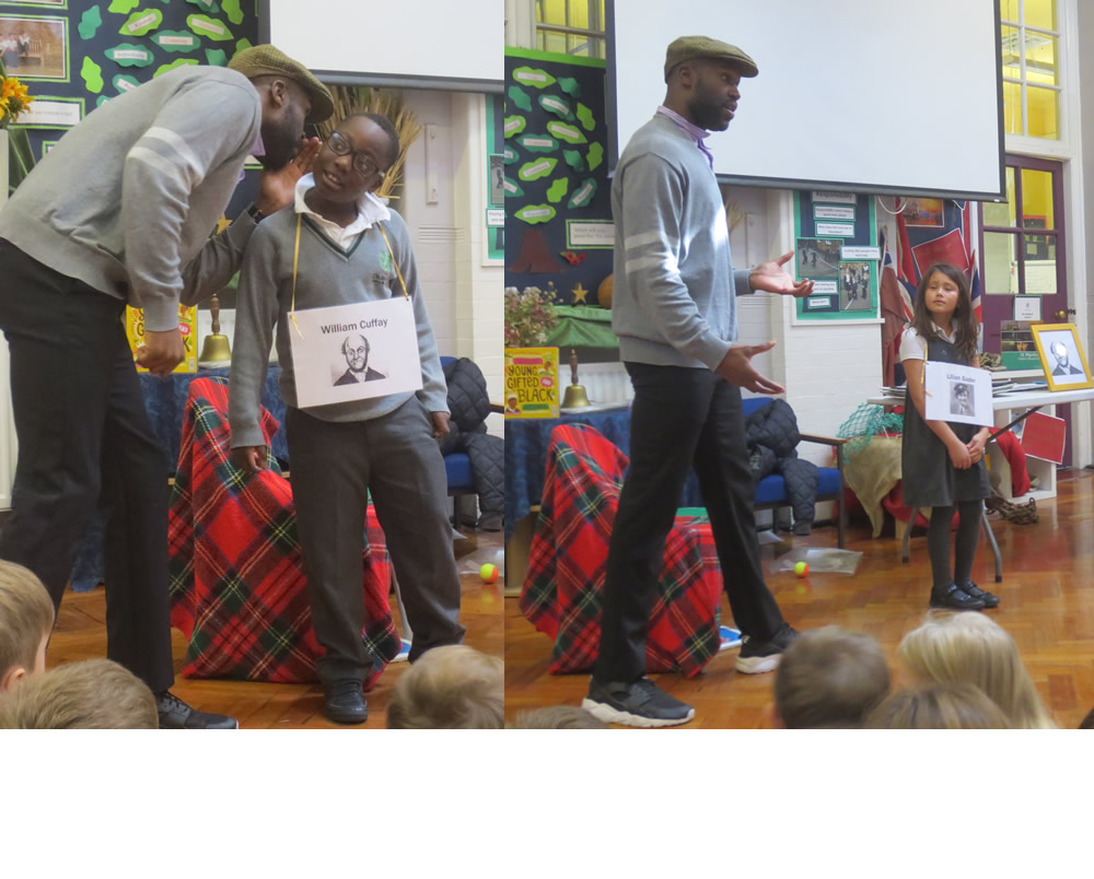 William Cuffay and Lilian Bader were two of the heroes we learnt about in the Black History workshop. Click on the news link to see more.