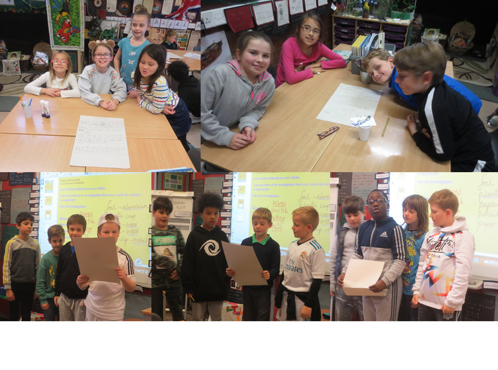 Planning and presenting an investigation involving electricity.