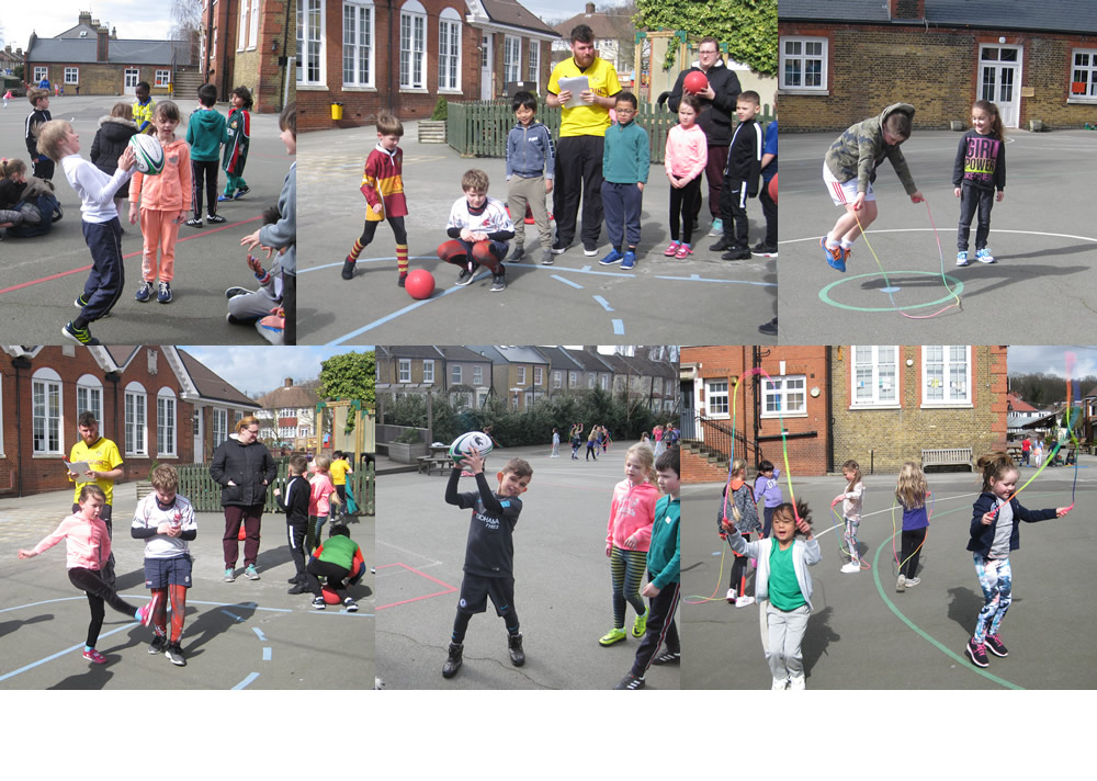Aspiring Record Breakers on Sport Relief Day.