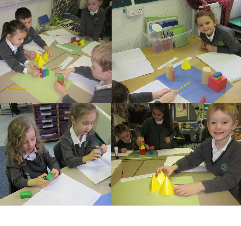 Sorting 3D shapes using mathematical language.