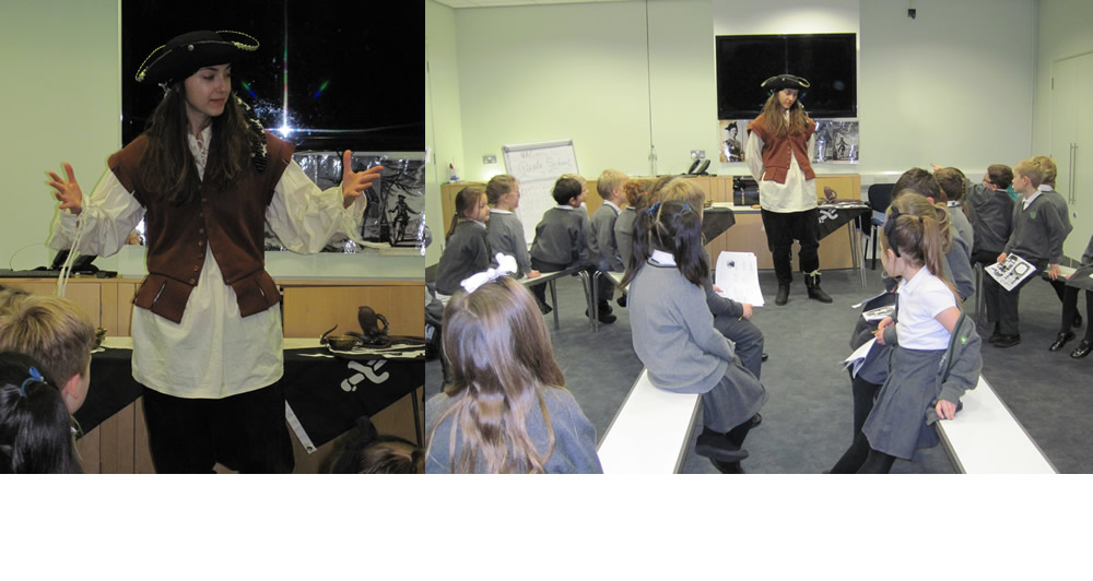 We visited the National Maritime Museum for a pirate workshop.