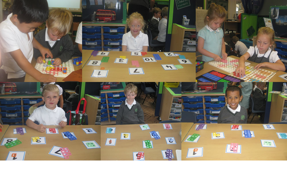 Using Numicon in maths.