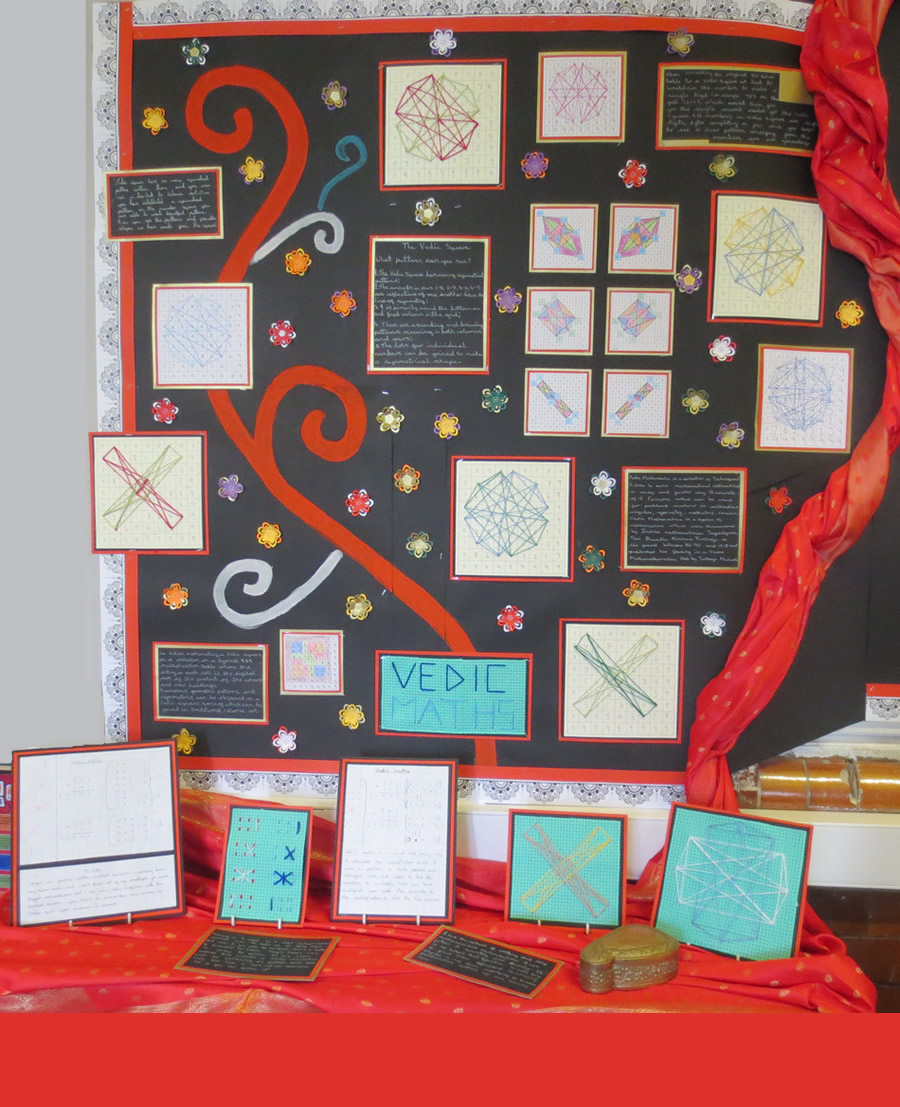 Our Vedic Maths display.