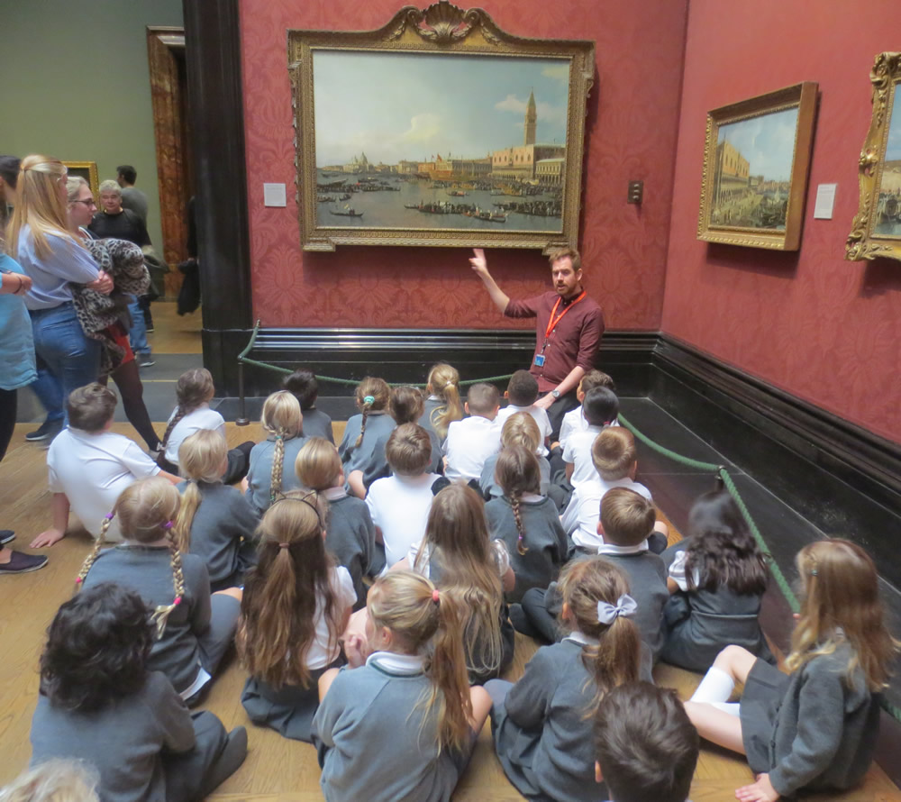 We visited The National Gallery.