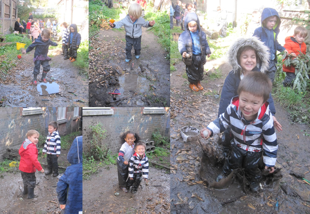 Plenty of jumping in the mud.