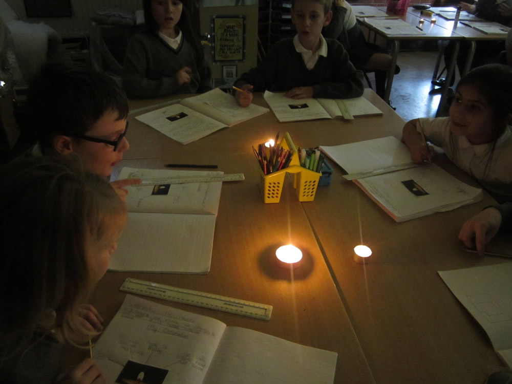 Investigating candles in science.