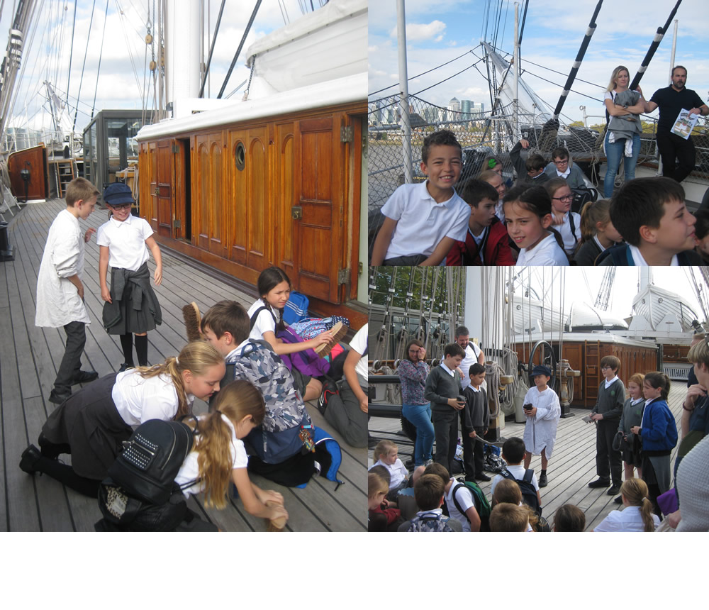 ...and found out about life on ships on The Cutty Sark.