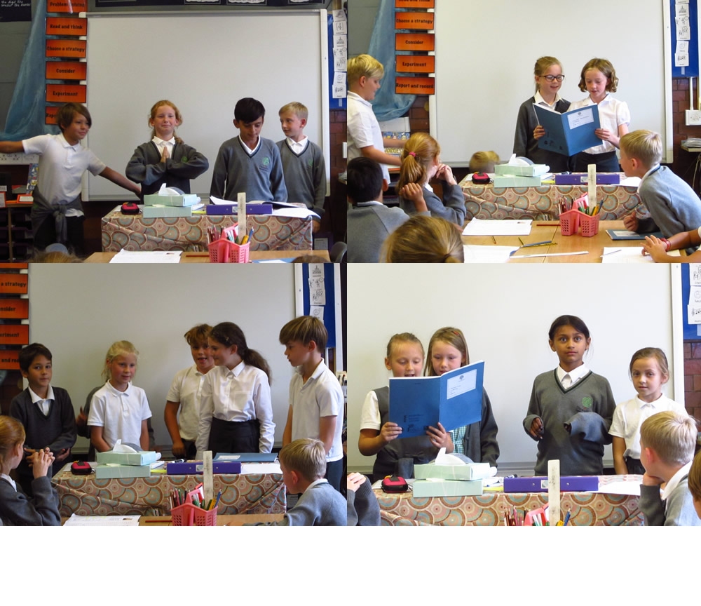 Presenting our poems to the class.