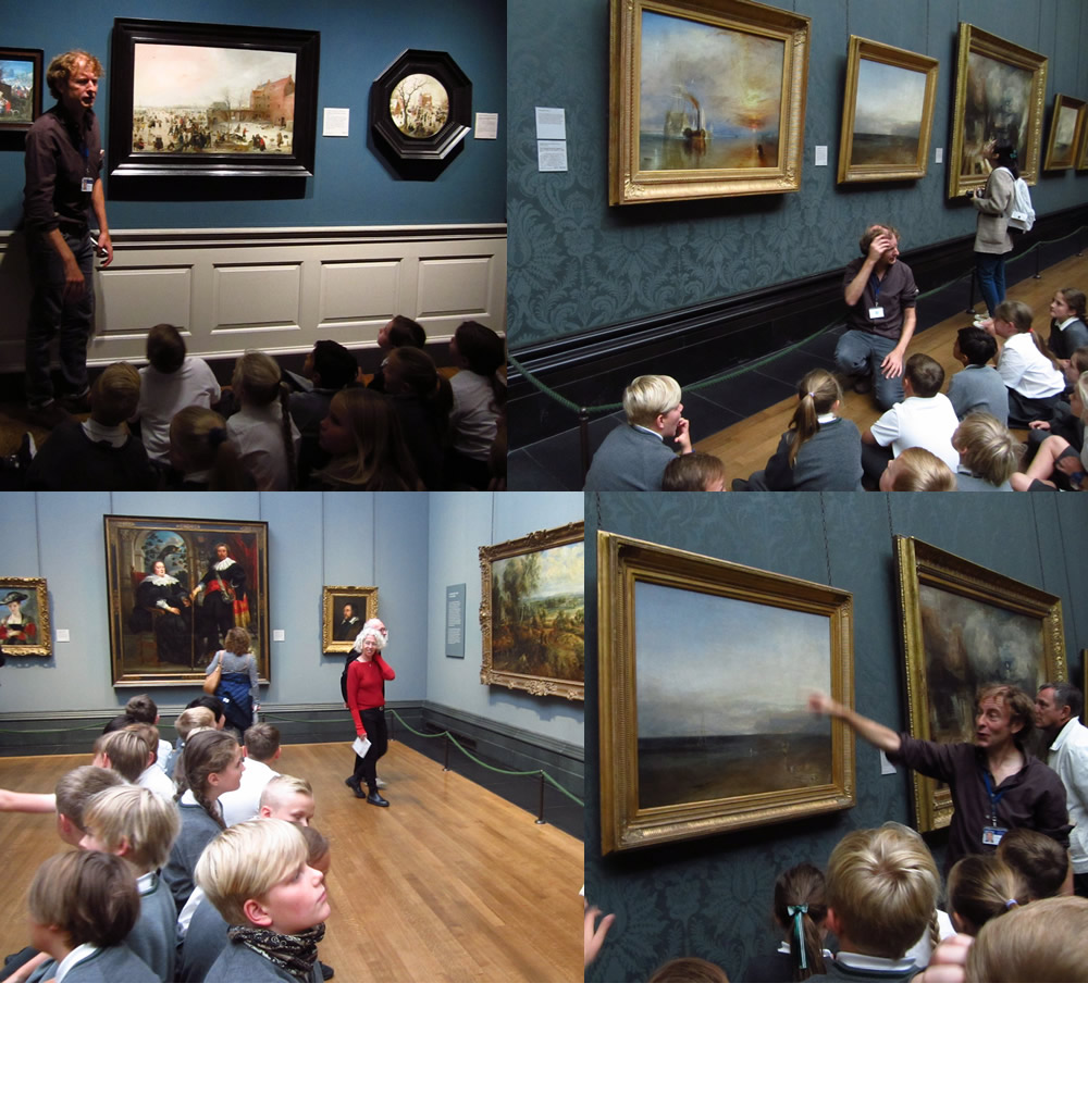 Exploring paintings at The National Gallery.