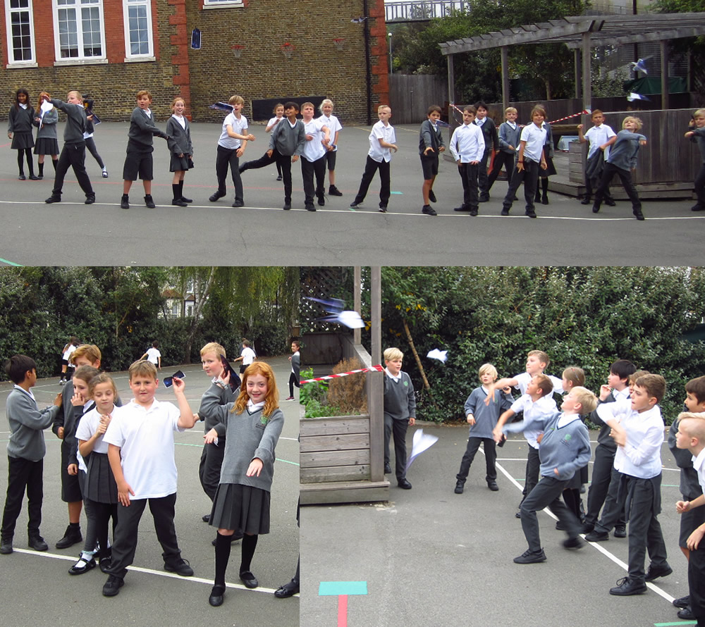 Testing our planes as part of our air resistance work in science.