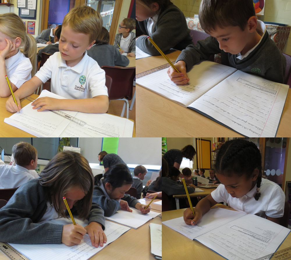 Using expanded noun phrases to describe our 'Take One' picture.