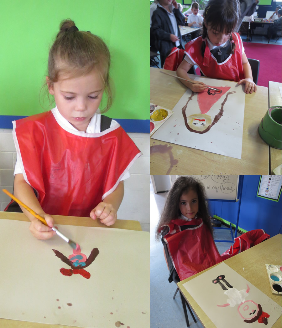 Painting pictures of our friends.