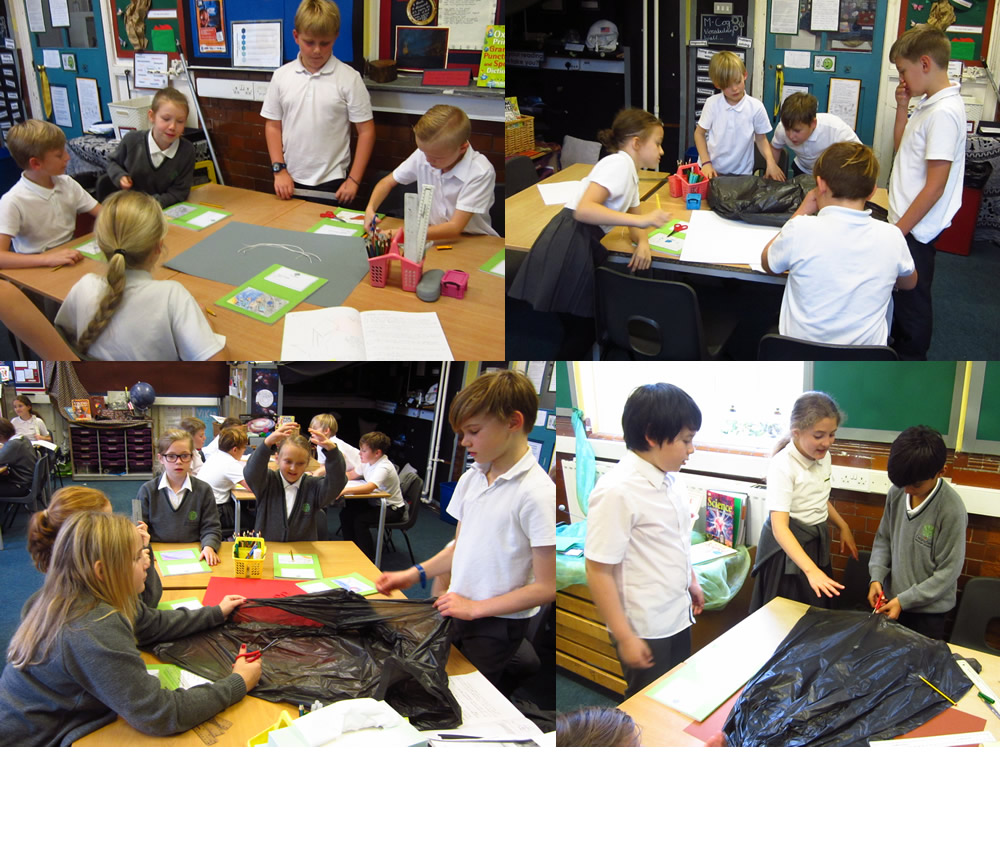 So how are we going to make a parachute to help a falling egg land safely?