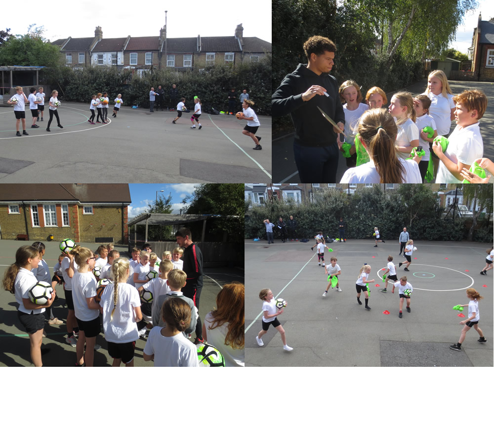 Local football club coaches discuss attack and defence skills.