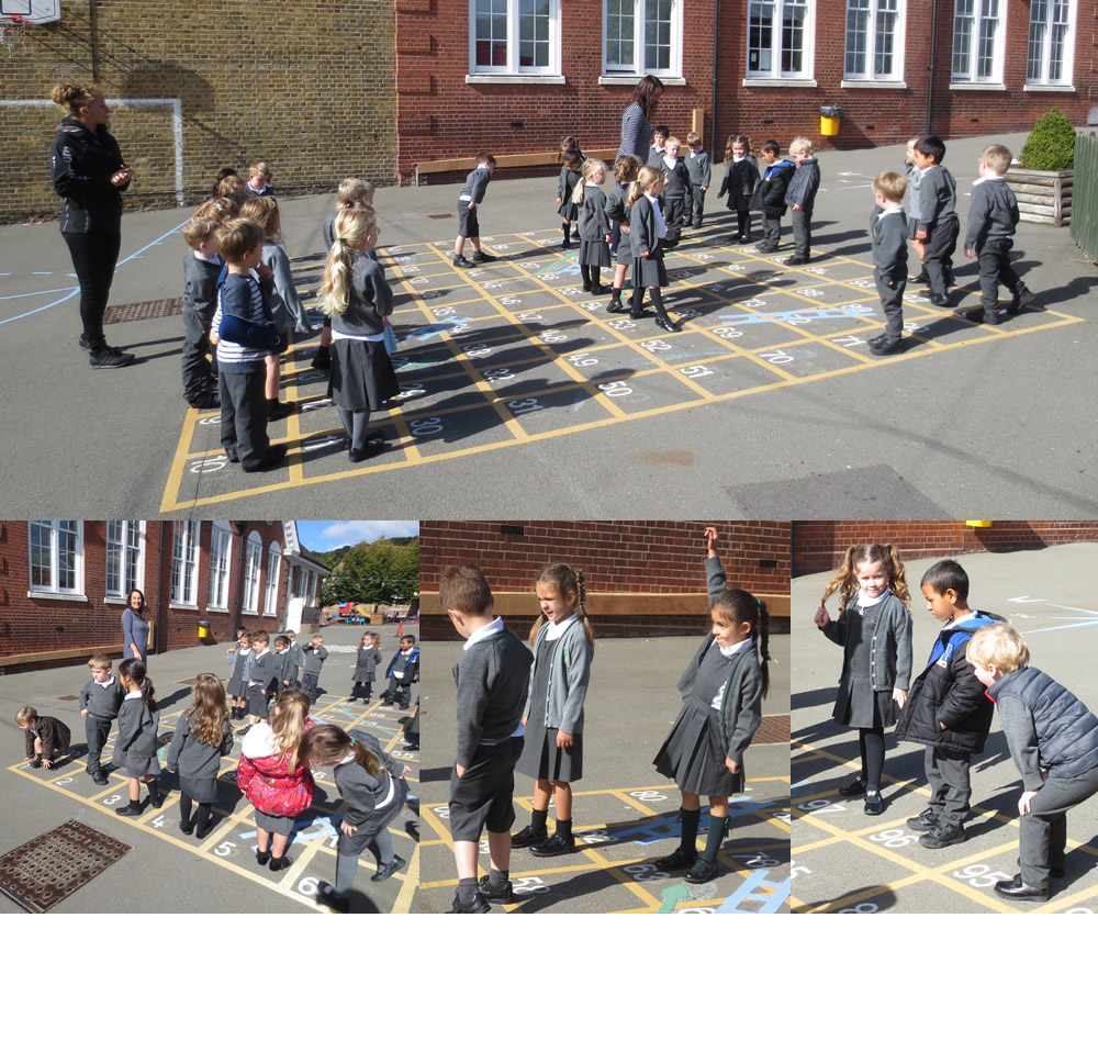 We can recognise the numbers we are standing on!