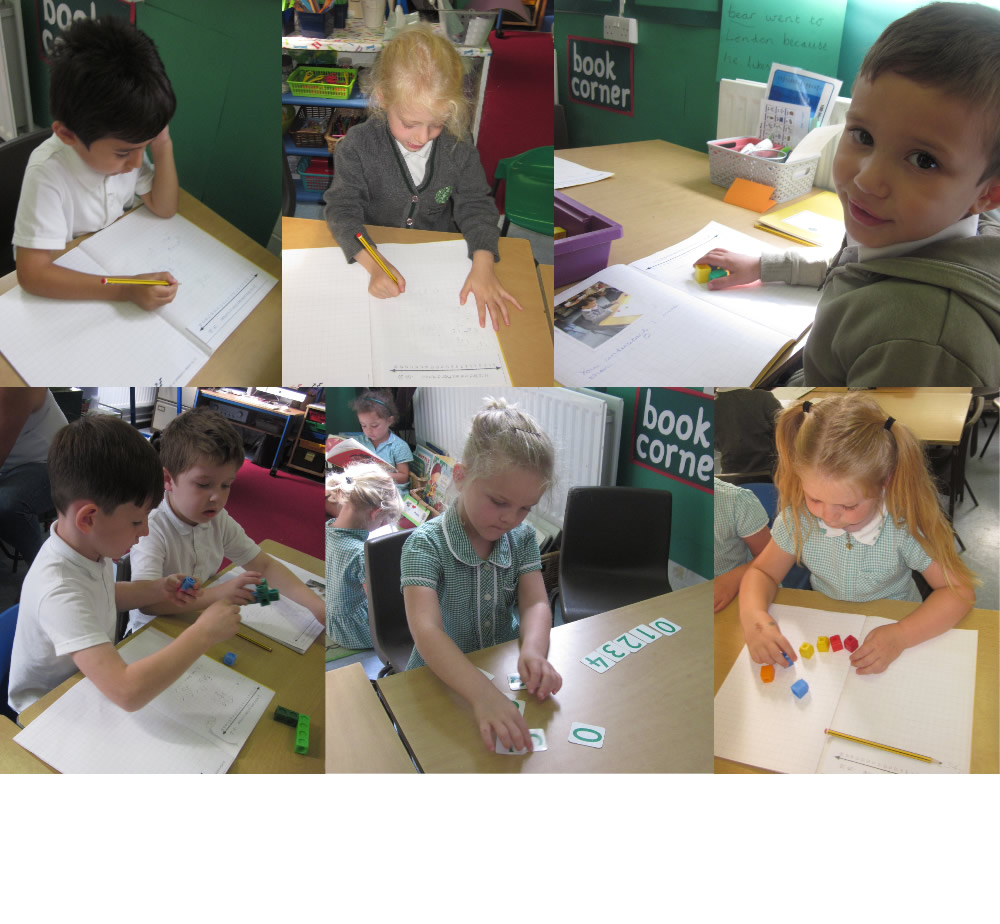 Year 1 mathematicians at work.