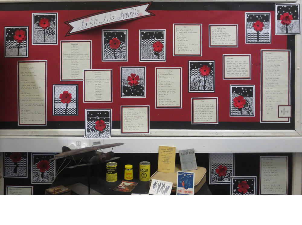 History display about Remembrance.