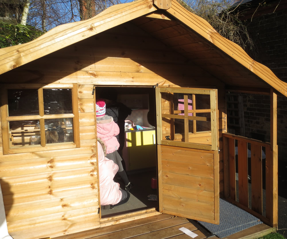 It's fun having our new house in the outside area...