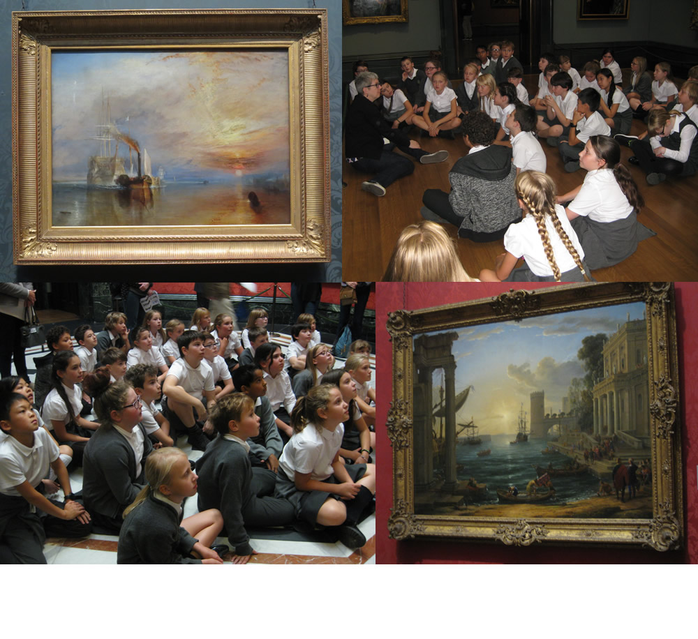 Year 6 visited The National Gallery to see Turner's 'The Fighting Temeraire'.