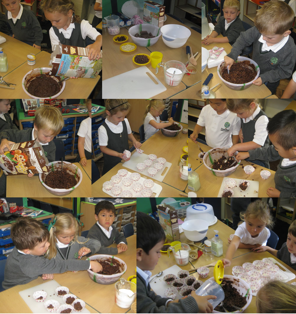 Making cakes for Macmillan.