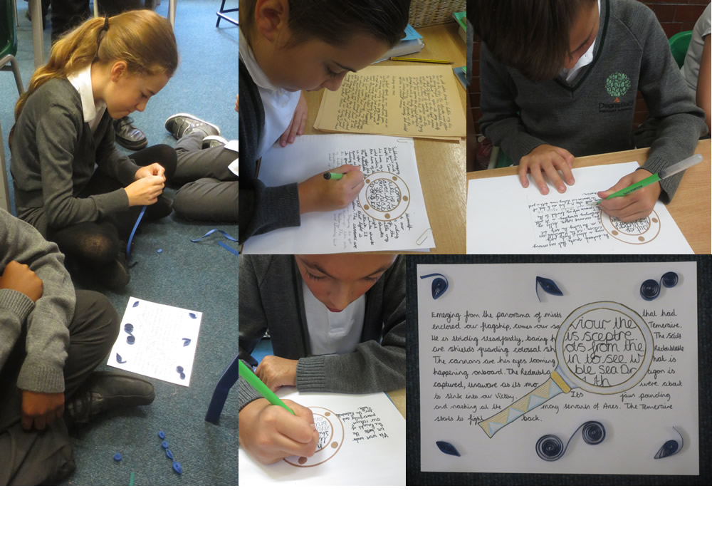 Preparing work for our Take One Temeraire display.
