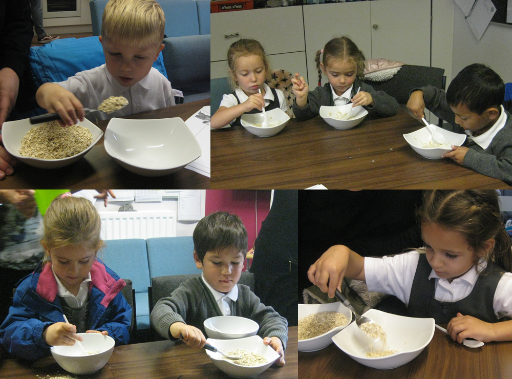 Tasting porridge - just like Goldilocks!