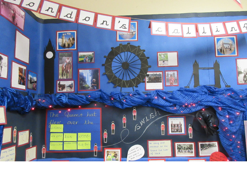 Our 'London's Calling' display has work based on The Queen's Hat.
