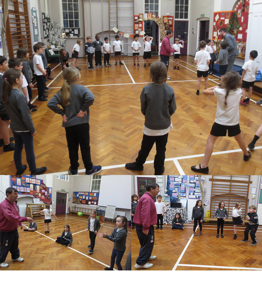 Rain did not stop play in our cricket session. Keeping our eyes on the ball.