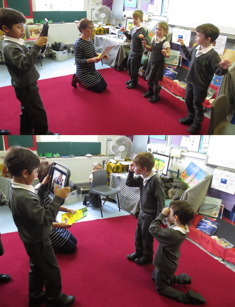 Capturing a poetry performance on video.