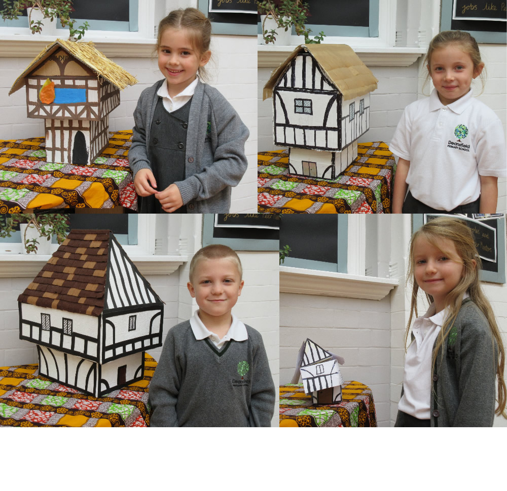 We have been busy at home making Great Fire of London buildings. Watch out, some are on fire!