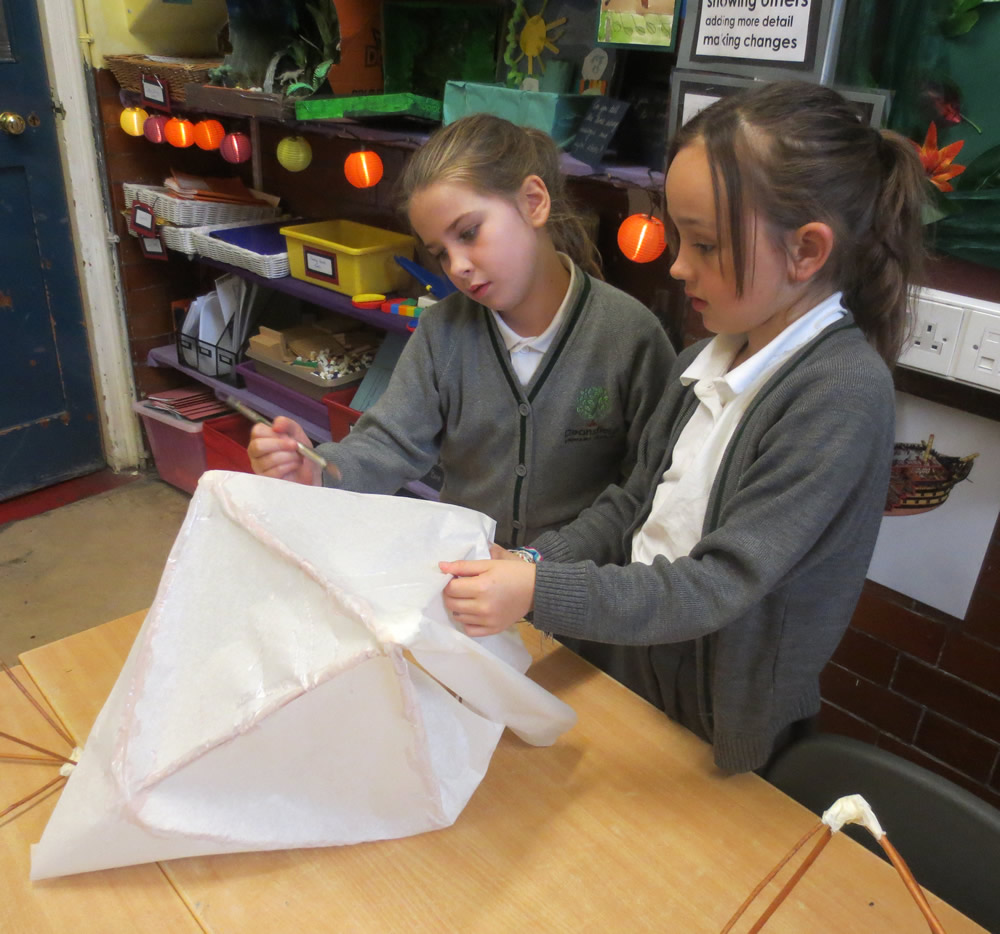 Willow withies and white tissue paper - making lanterns for Eltham Lights Up. Click on the news link to see more pictures.