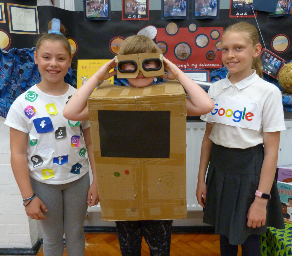 We had some very creative ideas for dressing up on Computer Science Week!